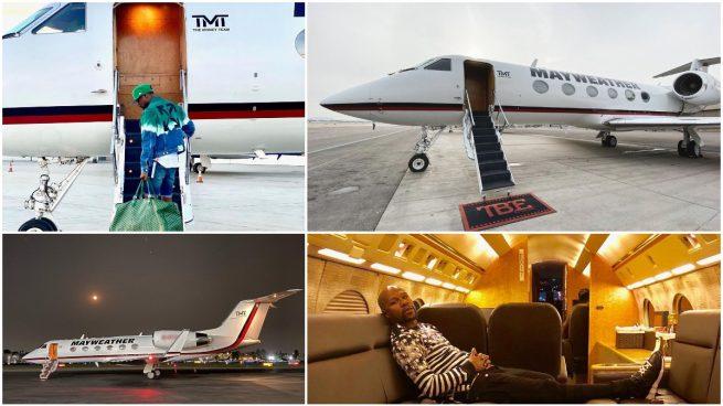 Así es el jet privado de Floyd Mayweather