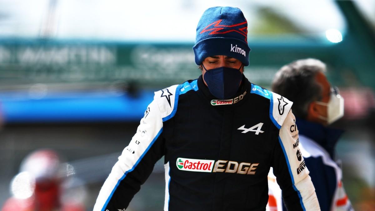 Fernando Alonso, tras la clasificación en Inmola. (Getty)