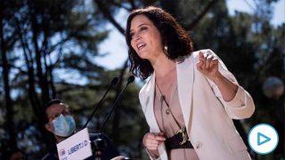 La presidenta de la Comunidad de Madrid y candidata a la reelección por el PP, Isabel Díaz Ayuso. Foto: EP