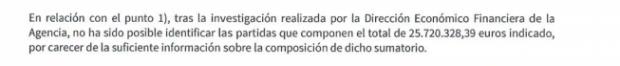 La Junta de Andalucía admite el agujero de casi 26 millones en la etapa socialista.