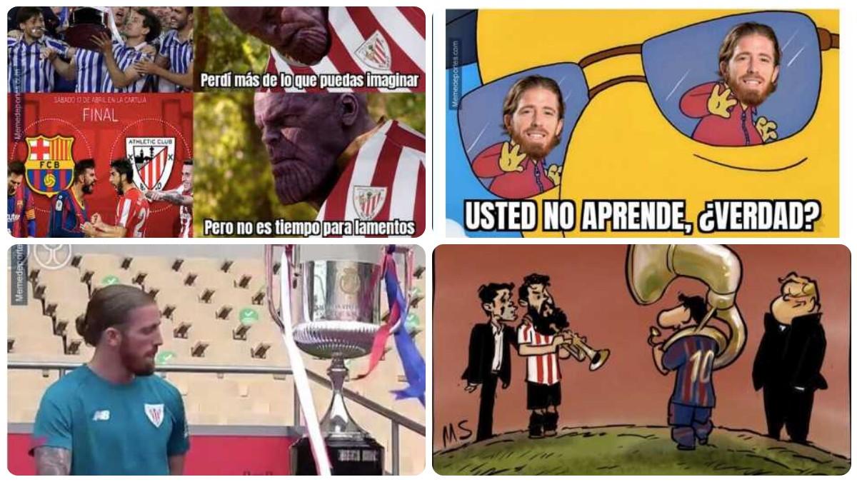Los mejores memes de la final de la Copa del Rey 2021 entre Athletic Club de Bilbao y FC Barcelona.