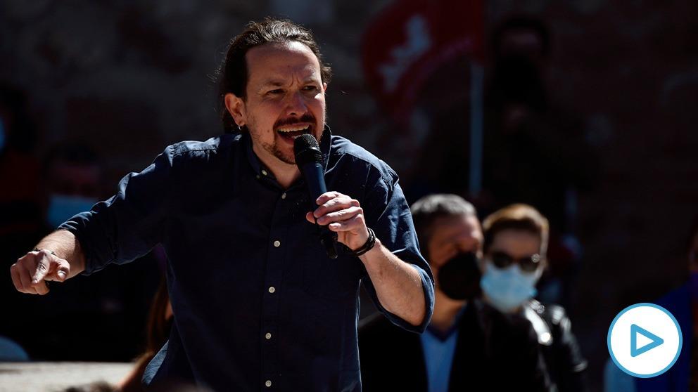 Pablo Iglesias este sábado en un acto de precampaña en Alcalá de Henares. (Imagen: Podemos)