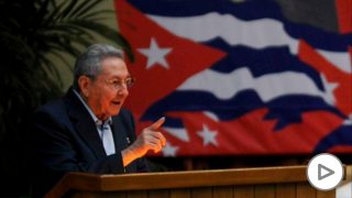 Raúl Castro, durante la inauguración del séptimo congreso del PCC. (Reuters)