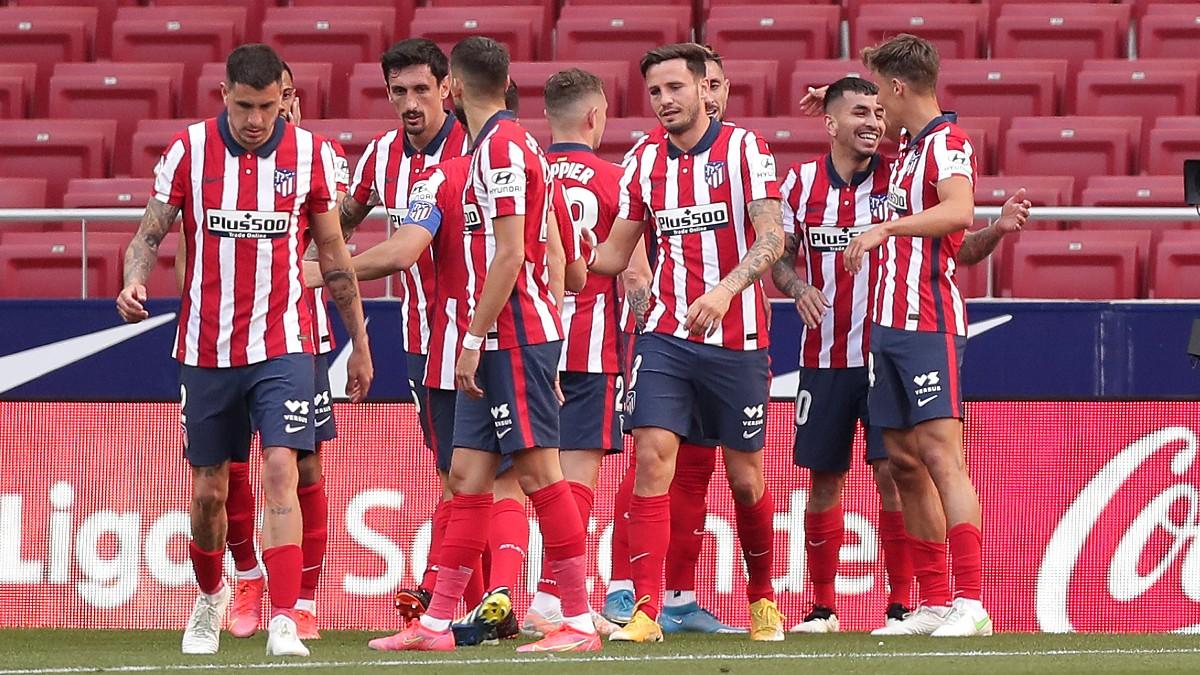 Los jugadores del Atlético celebran un gol de Correa al Eibar. (Getty)