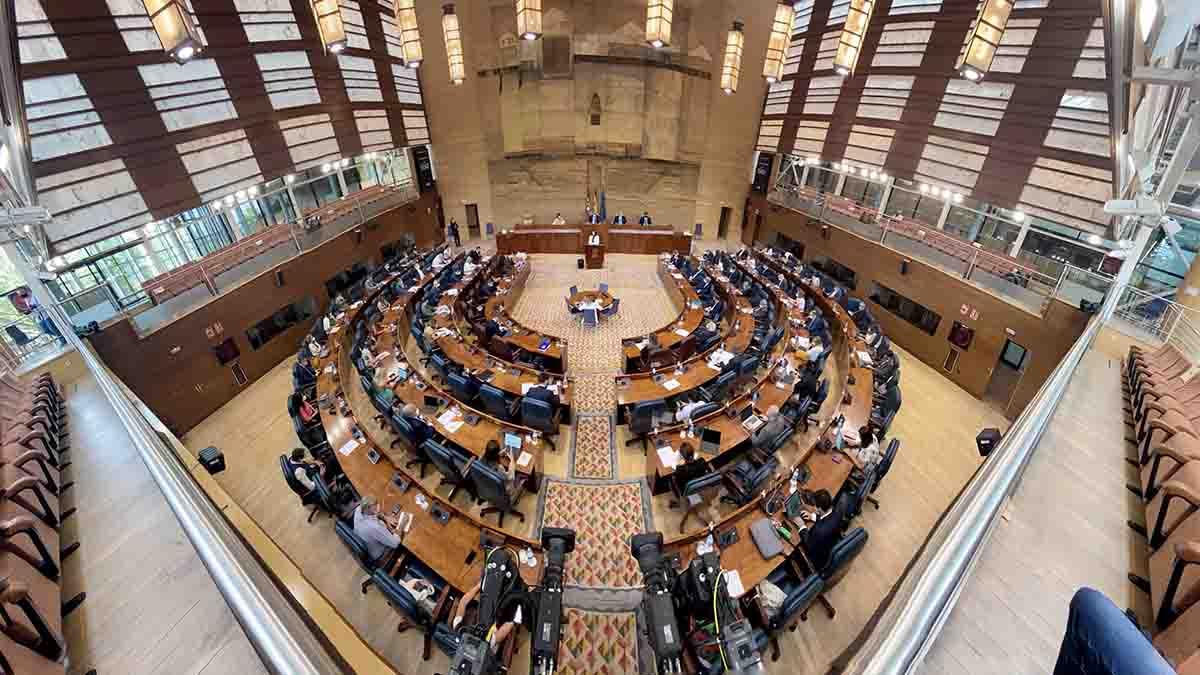 Hemiciclo de la Asamblea de Madrid. Foto: EP