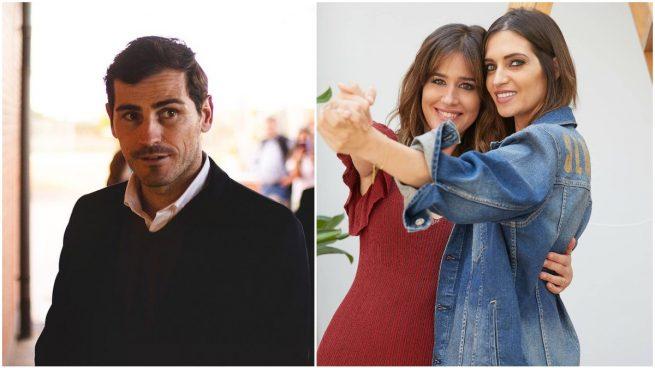Iker Casillas, Isabel Jiménez y Sara Carbonero.