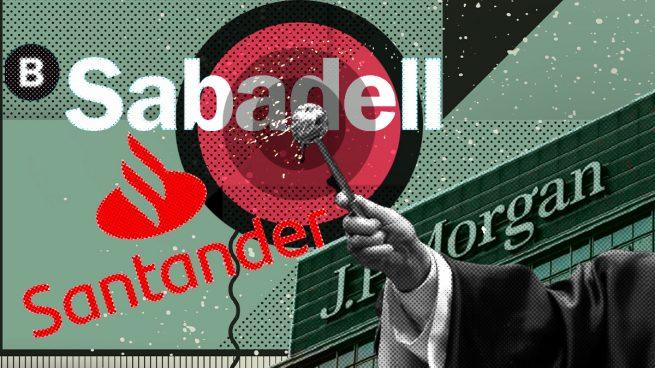 JP Morgan bendice a Sabadell y Santander: los sitúa entre los cuatro bancos más atractivos de Europa
