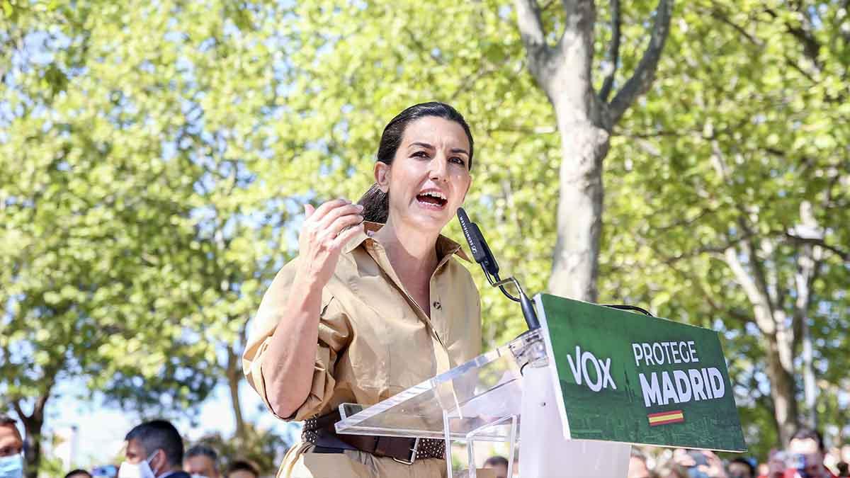 La cabeza de cartel de Vox al 4M, Rocío Monasterio. (Foto: EP)