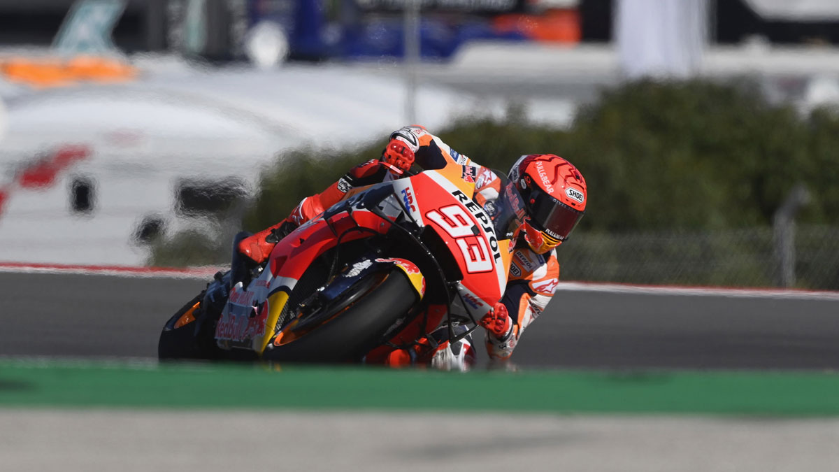 Marc Márquez durante el GP de Portugal de MotoGP. (Getty)