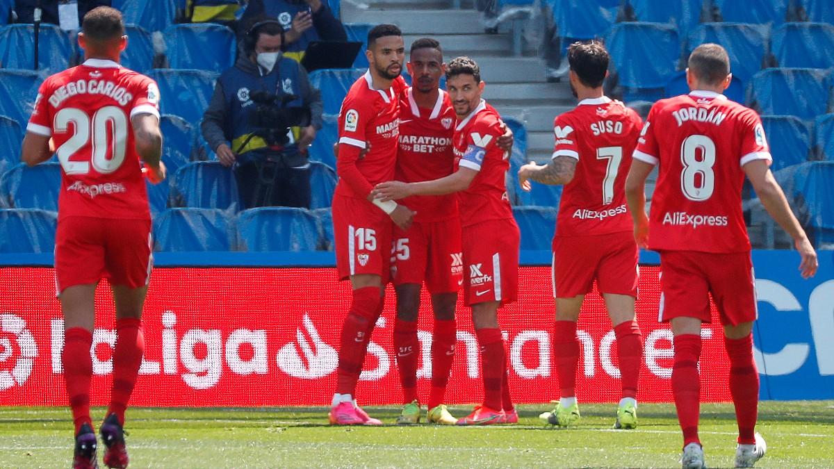 El Sevilla venció a la Real en Anoeta. (EFE)
