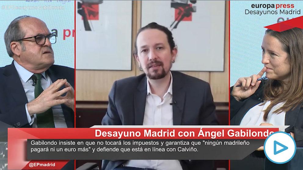 Ángel Gabilondo y Pablo Iglesias.
