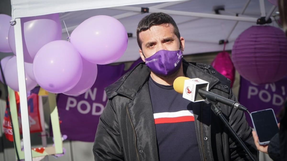 El líder de Podemos en Madrid, Jesús Santos.
