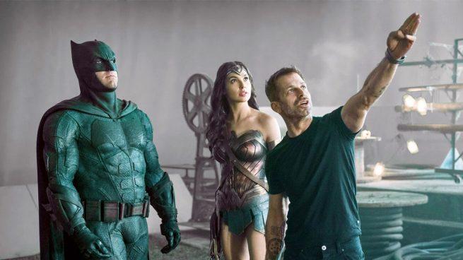 Zack Snyder en el rodaje de la Liga de la Justicia (Warner)
