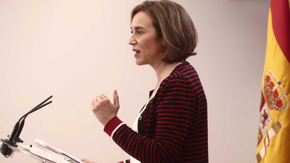 La portavoz del PP en el Congreso de los Diputados, Cuca Gamarra. Foto: EP