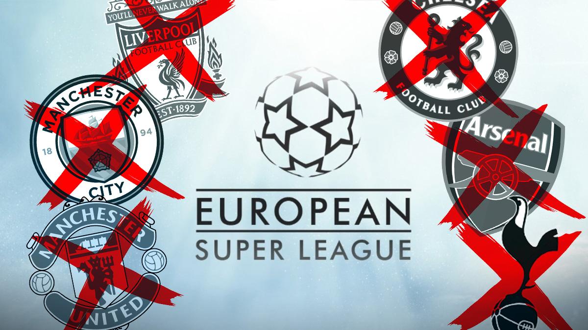 Los seis clubes ingleses se van de la Superliga.