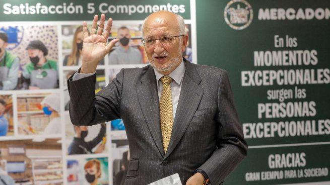 Juan Roig, presidente de Mercadona, durante la presentación de resultados de 2020