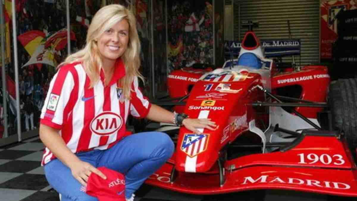María de Villota pilotó para el Atlético de Madrid en la Superleague Fórmula. (Atlético de Madrid)