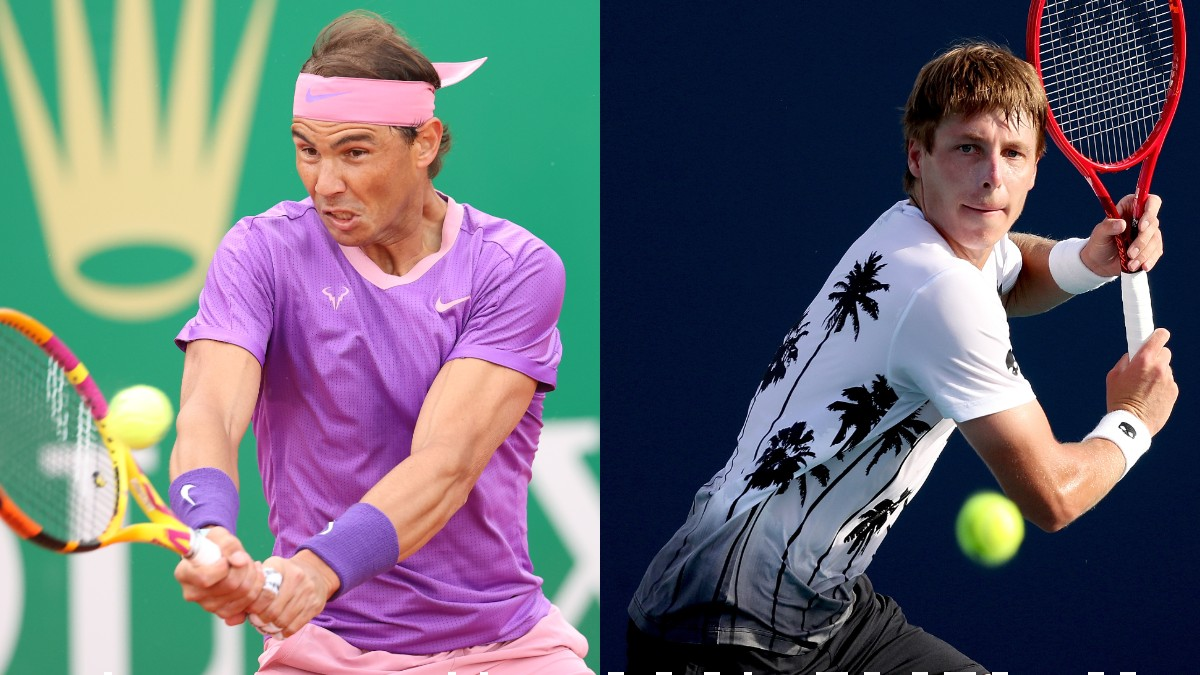 Rafael Nadal e Ilya Ivashka. (Getty)