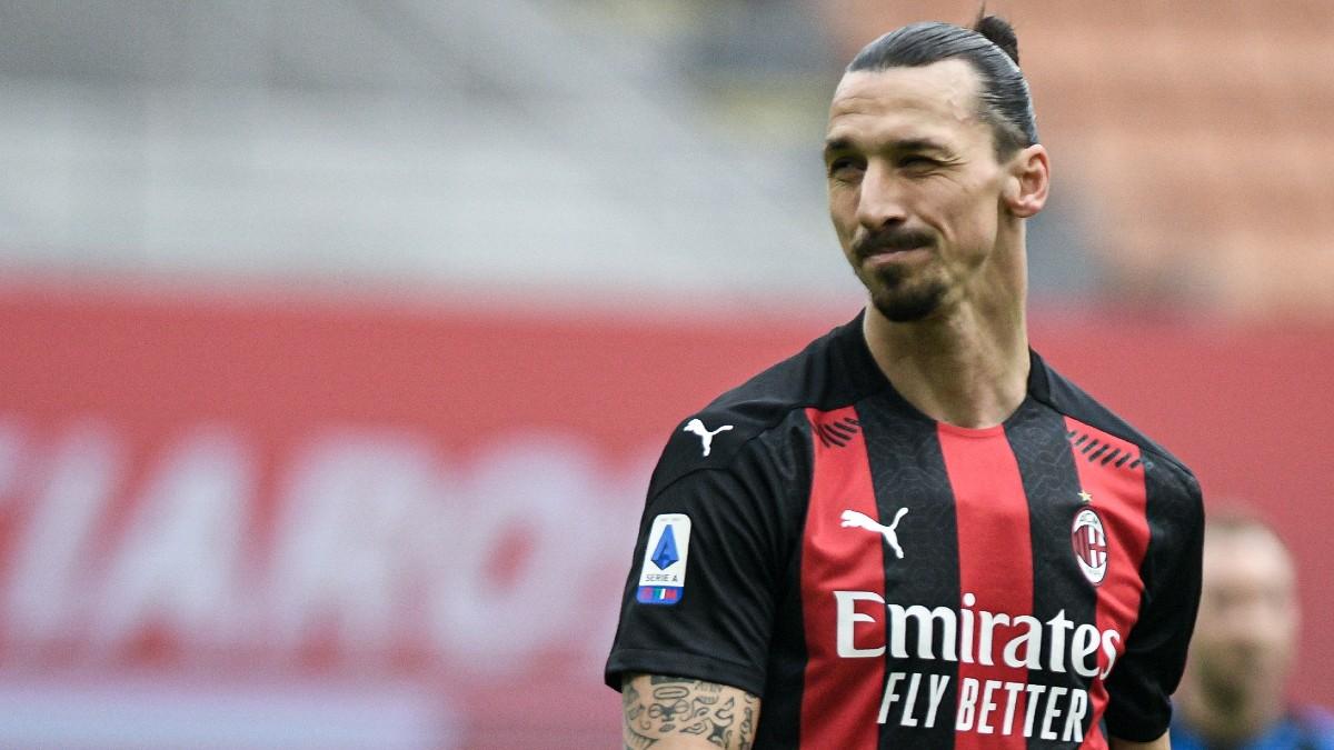 Ibrahimovic, en un partido del Milan.