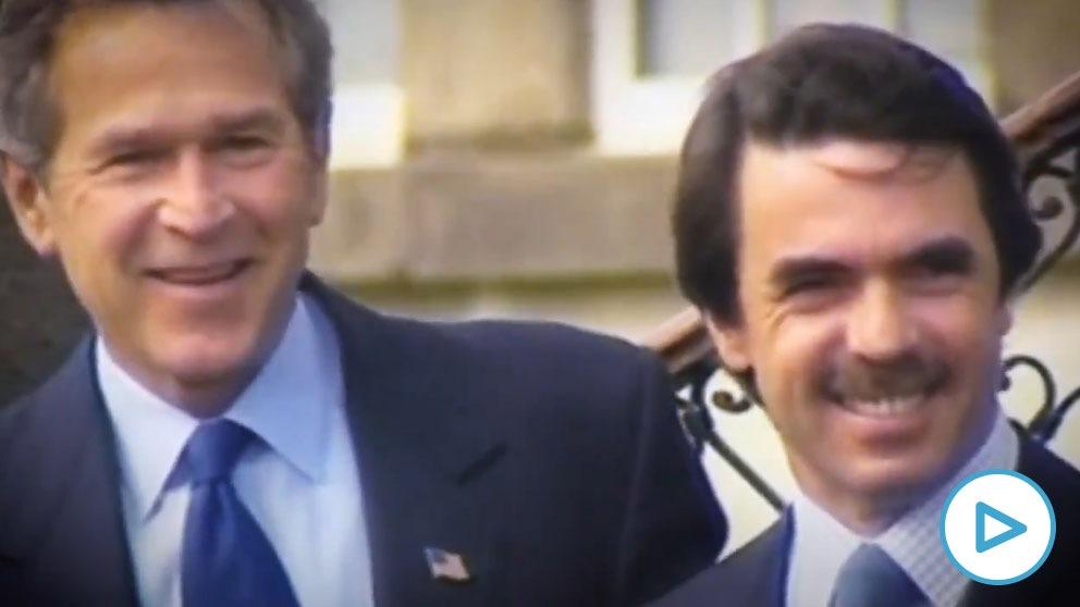 Pablo Iglesias a la desesperada: resucita a Aznar, Bush y la guerra de Irak para llamar al voto el 4M.