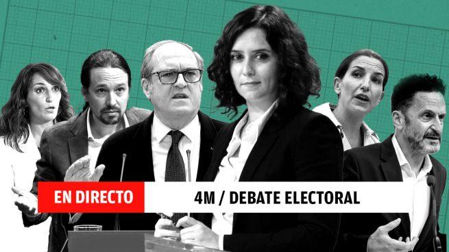 Debate electoral, directo: ganador, resumen y última hora de los candidatos Ayuso, Iglesias, Monasterio, Bal, García y Gabilondo| Elecciones Madrid 2021