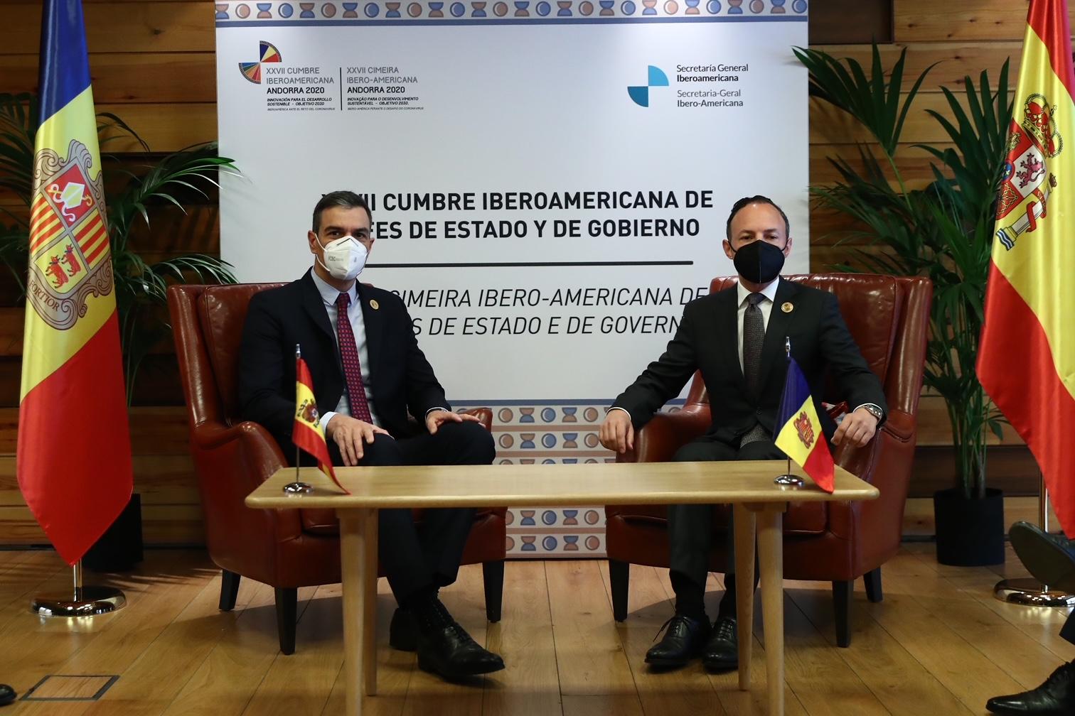 Sánchez, este miércoles, reunido con el Cap de Govern de Andorra Xavier Espot.