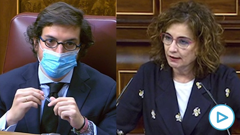 La portavoz del Gobierno, María Jesús Montero, en su grave afirmación al diputado de Vox José María Figaredo.
