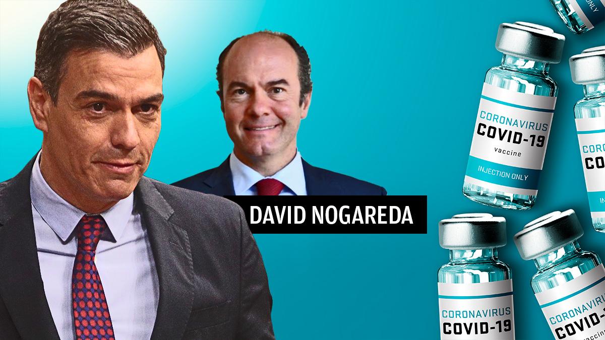 El empresario David Nogareda junto con Pedro Sánchez.