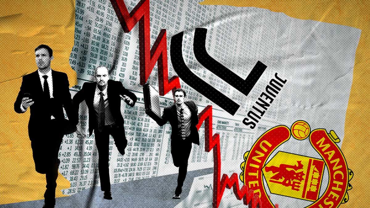 Los inversores penalizan la fuga de la Superliga: la Juventus y el Manchester se desploman en Bolsa