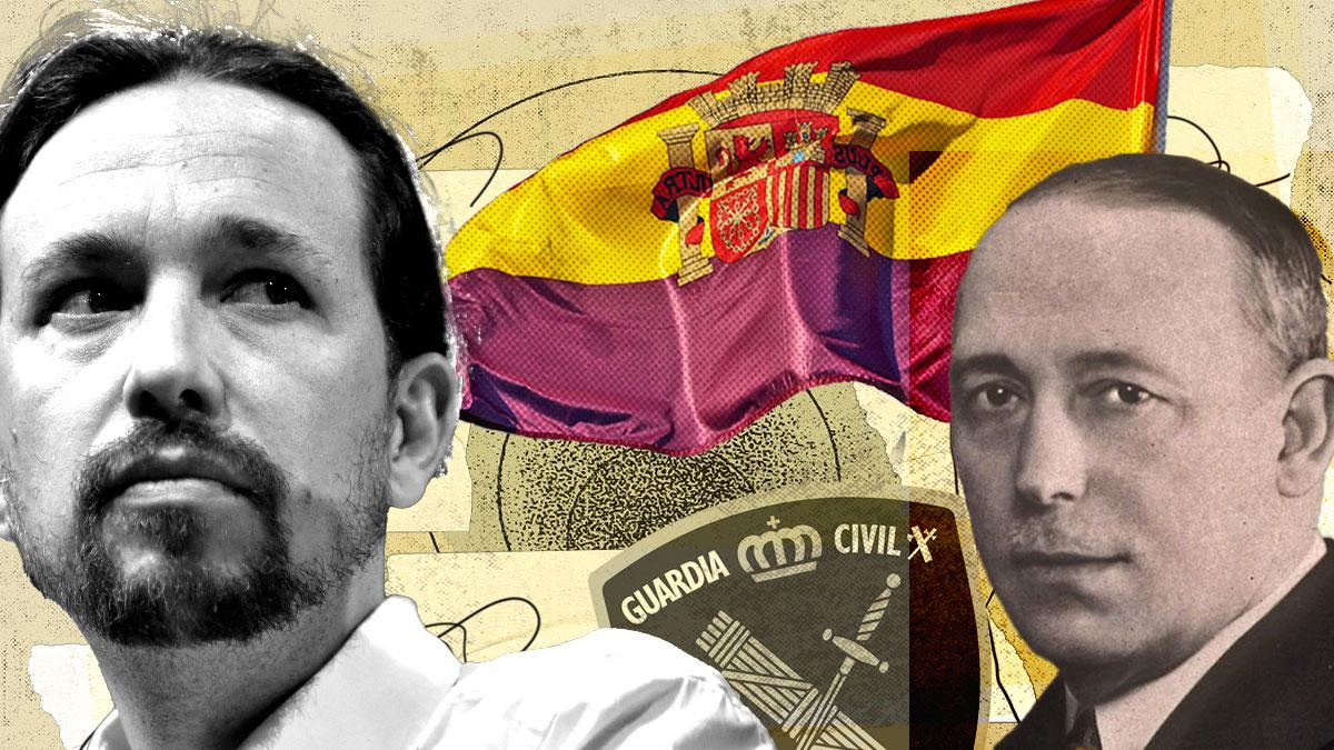 Pablo Iglesias y el general republicano Antonio Escobar.