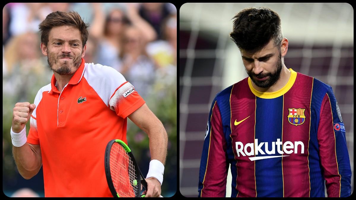 Mahut y Piqué. (AFP / Getty)