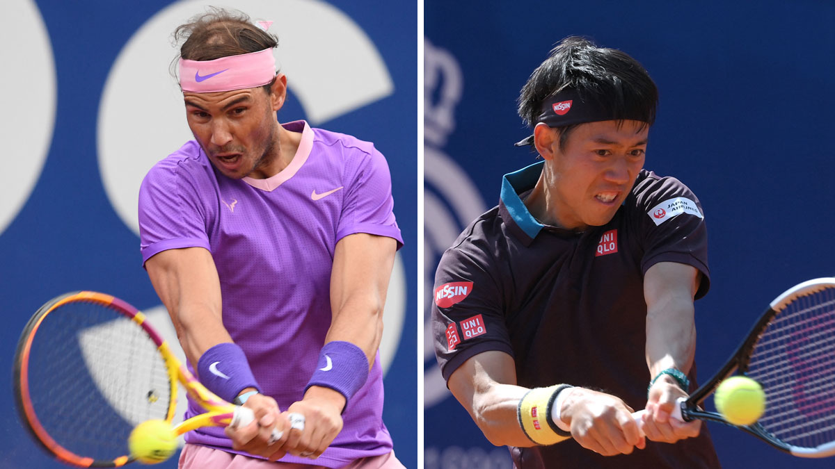 Nadal y Nishikori se enfrentan este jueves 22 en los octavos de final del Godó (AFP)