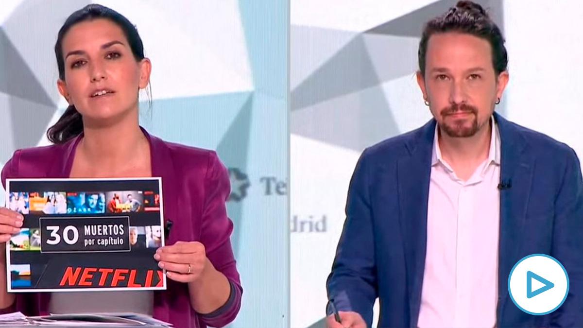Rocío Monasterio y Pablo Iglesias.