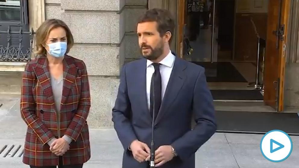 Pablo Casado y Cuca Gamarra.