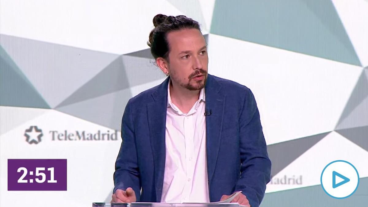 El candidato de Podemos al 4M, Pablo Iglesias.
