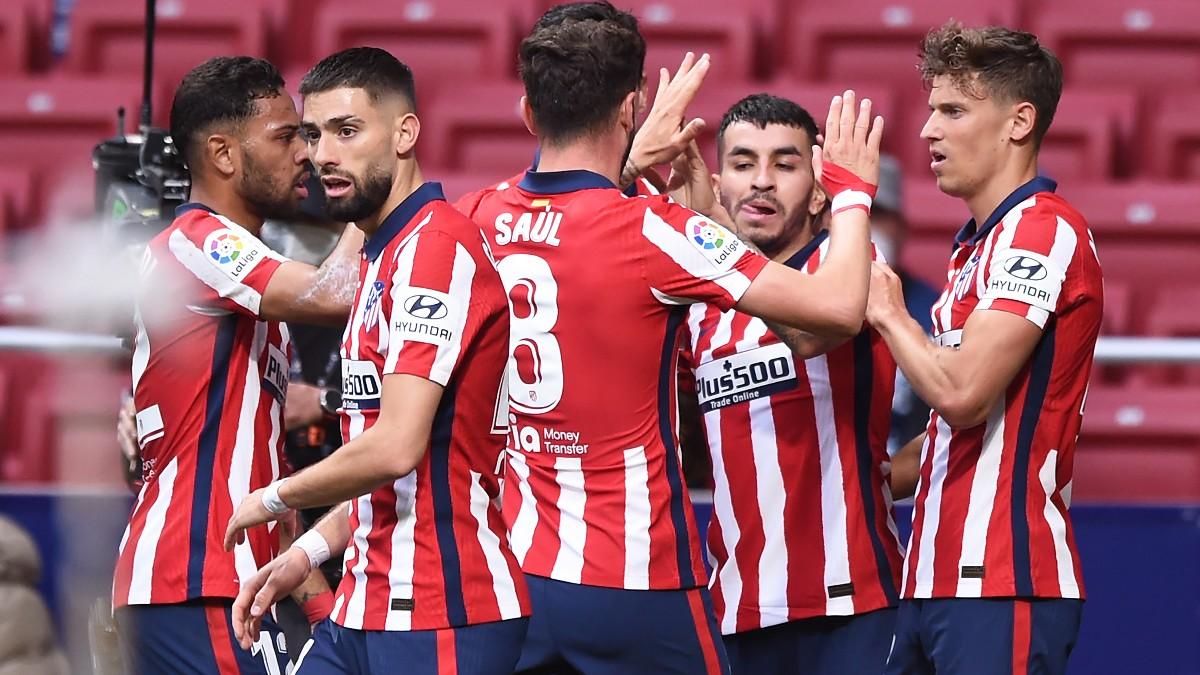 Los jugadores del Atlético celebran el gol de Correa. (Getty)