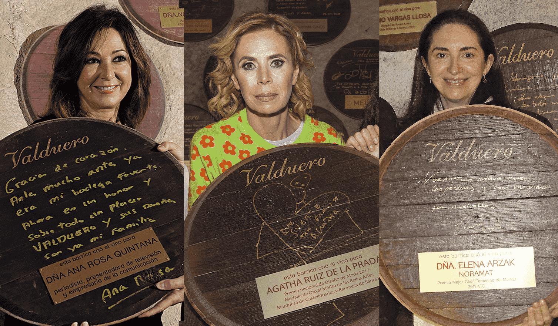 Ana Rosa Quintana, Agatha Ruiz de la Prada y Elena Arzak.