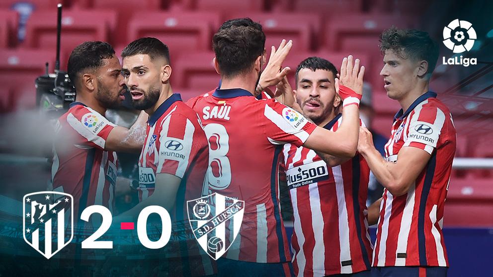 El Atlético venció al Huesca en el Metropolitano. (AFP)