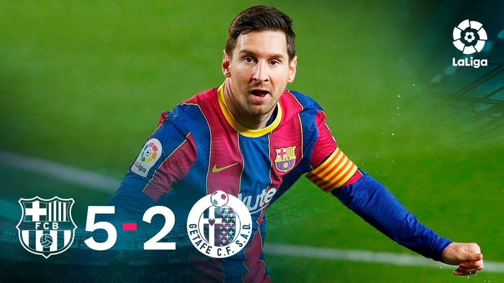 Messi destrozó al Getafe.