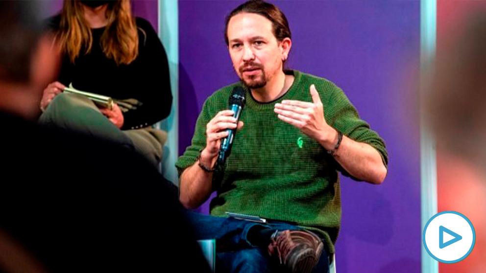 El candidato de Podemos a la presidencia de la Comunidad de Madrid, Pablo Iglesias, durante un mitin. (Foto: Efe)
