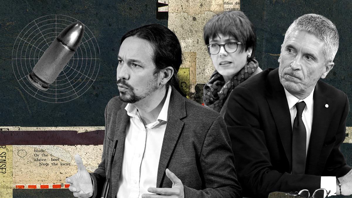 Pablo Iglesias, Fernando Grande-Marlaska y María Gámez