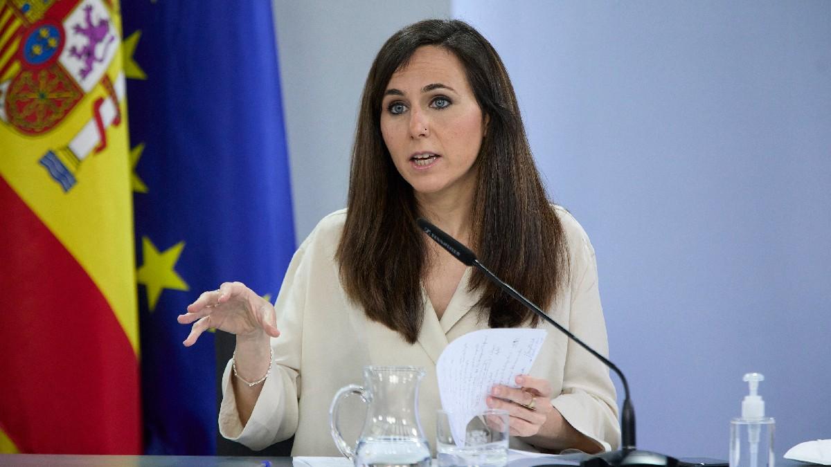 Ione Belarra, ministra de Derechos Sociales y Agenda 2030, en el Palacio de la Moncloa. (Foto: EP)