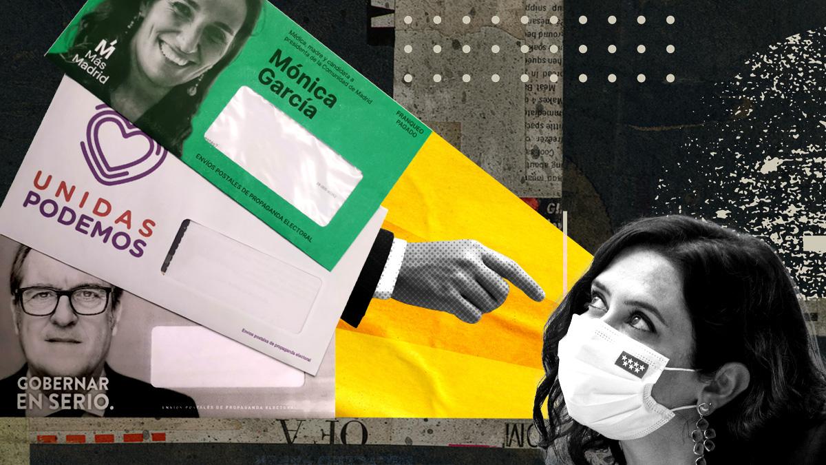 Cartas antiAyuso de los candidatos de la izquierda.
