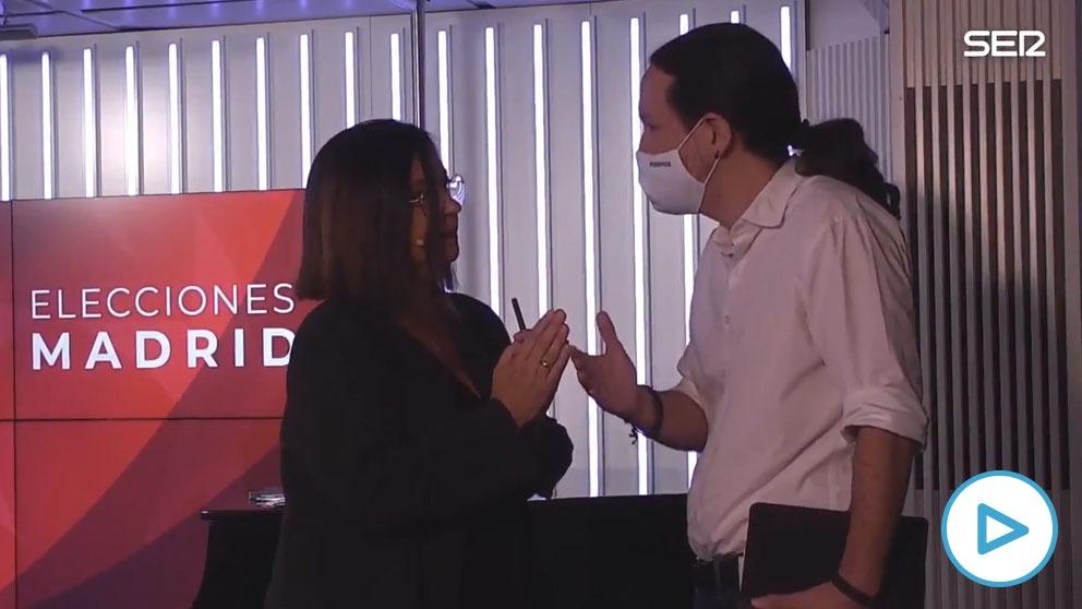 Pablo Iglesias se hace la víctima y abandona el debate de la Ser porque Rocío Monasterio pone en duda las amenazas.