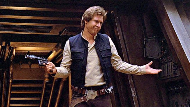Harrison Ford como Han Solo en la saga Star Wars (Disney)