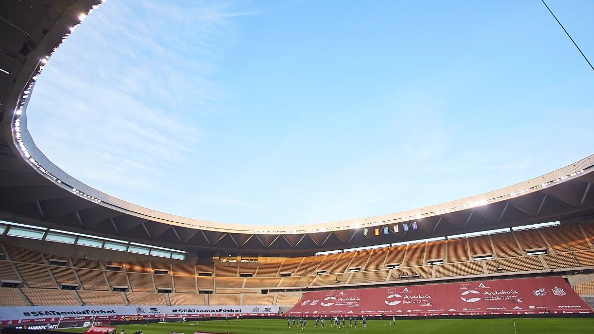 Una imagen de La Cartuja, sede de la Eurocopa. (Getty)