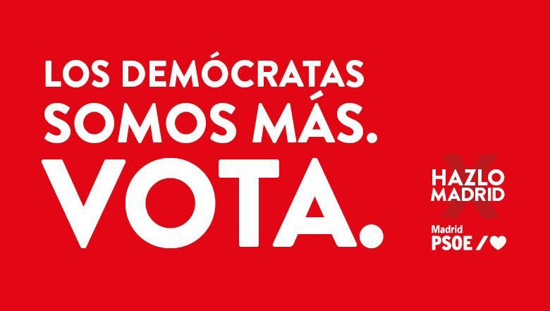 Cartel electoral del PSOE.