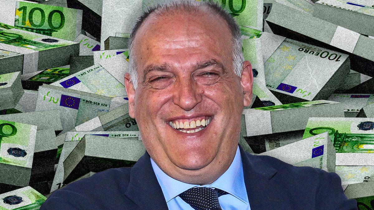 El presidente de la Liga pide contención a los clubes cuando no para de gastar.
