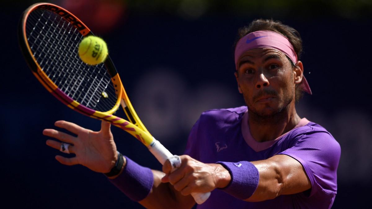 Rafa Nadal, en un momento de su partido ante Pablo Carreño. (AFP)