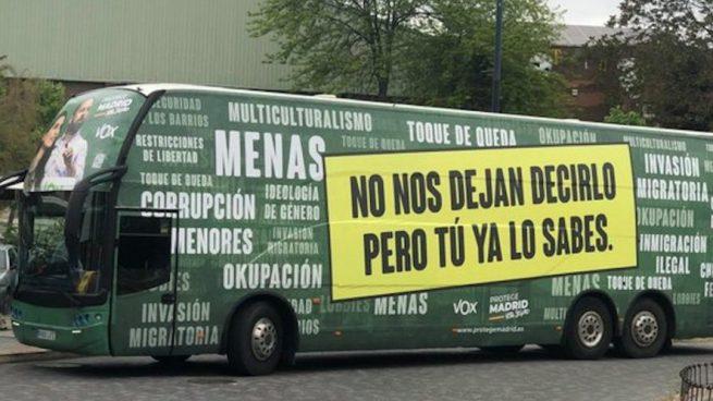Anticapitalistas, sobre el autobús de Vox: «Cuando lo veas pasar, ya sabes lo que tienes que hacer»